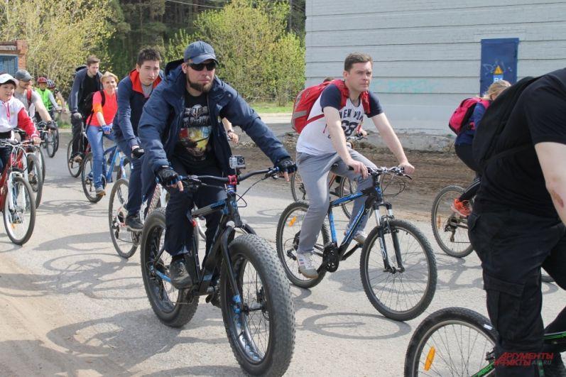 Есть участники на необычных велосипедах