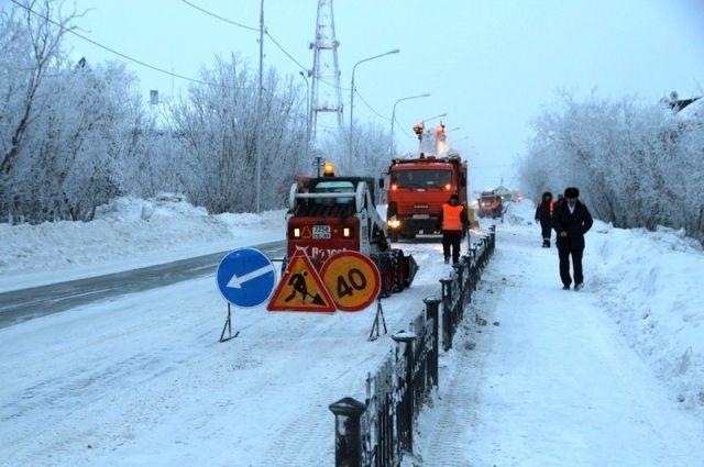 В Салехарде выясняли, кто ответственный за снег