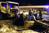 Три человека сгорели заживо в ДТП под Калининградом.