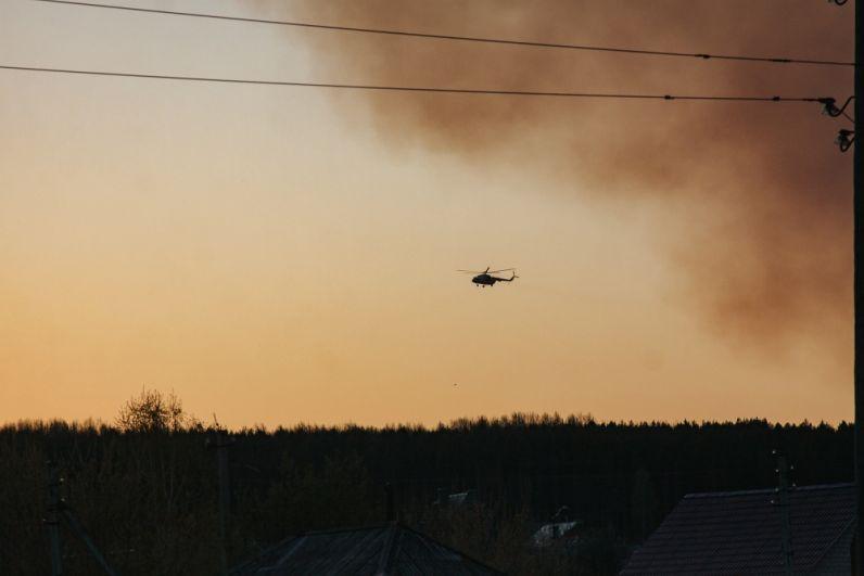 Площадь возгорания составила 300 га.