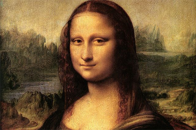 Фрагмент картины Леонардо да Винчи «Джоконда».