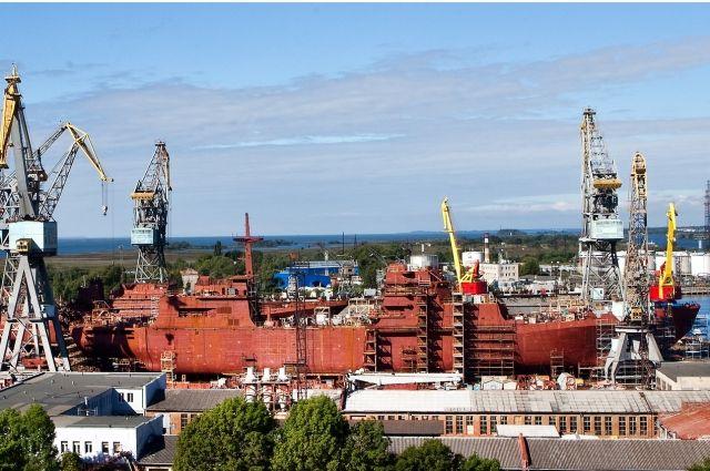 В Калининграде готовятся спустить на воду БДК «Петр Моргунов».