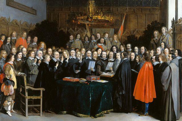 Вестфальский мир (картина Герарда Терборха (1648 год)