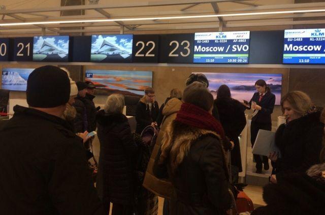 Все рейсы, вылетающие из Красноярска, отложены.