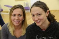 Анастасия Фесикова и Виктория Андреева.