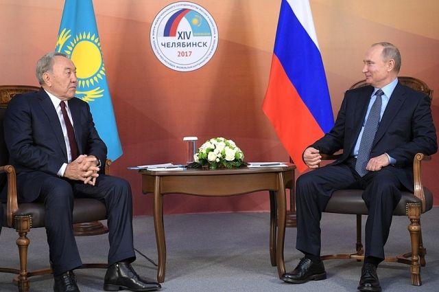 Путин пригласил Назарбаева в Москву на церемонию открытия ЧМ-2018