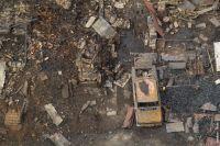 На месте жилых кварталов осталось пепелище