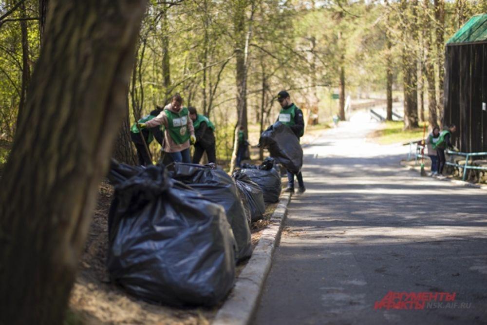 В результате уборочных работ с территории зоопарка имени Р.А. Шило увезли больше 500 мешков собранного мусора. Неравнодушные новосибирцы подмели и убрали лесопарковые дорожки Новосибирского зоопарка.