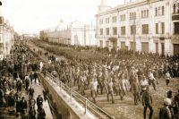 Вступление Чехословацкого корпуса в Омск. Лето 1918 года.