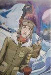 Звездная Арктика. Рогозина Валерия, 16 лет, ДХШ №3, Вельск.
