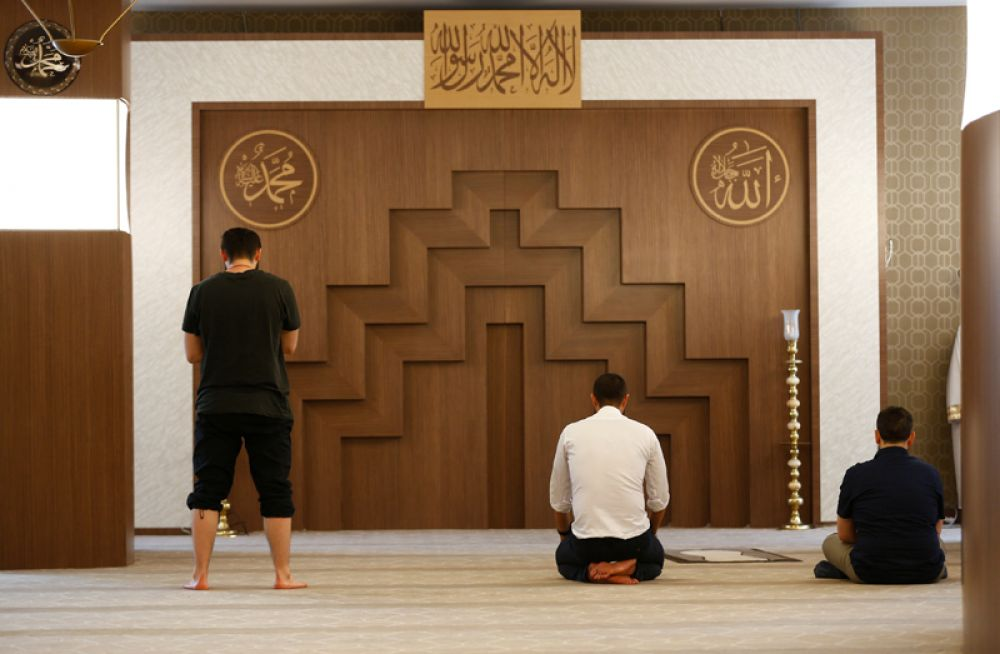 Комната для молитв в одном из халяль-отелей Турции.