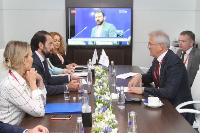 На встрече обсуждались ключевые вопросы взаимодействия инвестора и области.