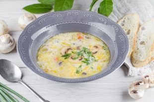 Грибной летний суп