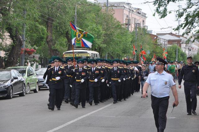Оренбург отмечает День пограничника.