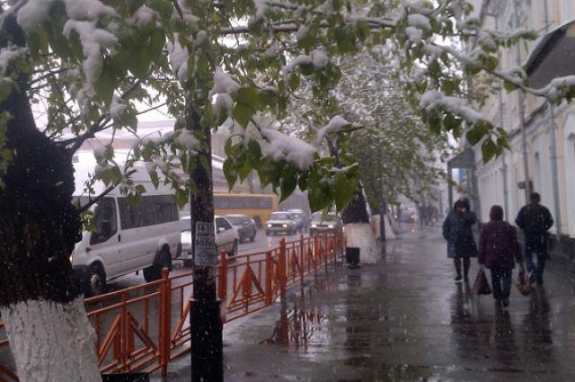 Иркутяне стали свидетелями майского снегопада этой весной.