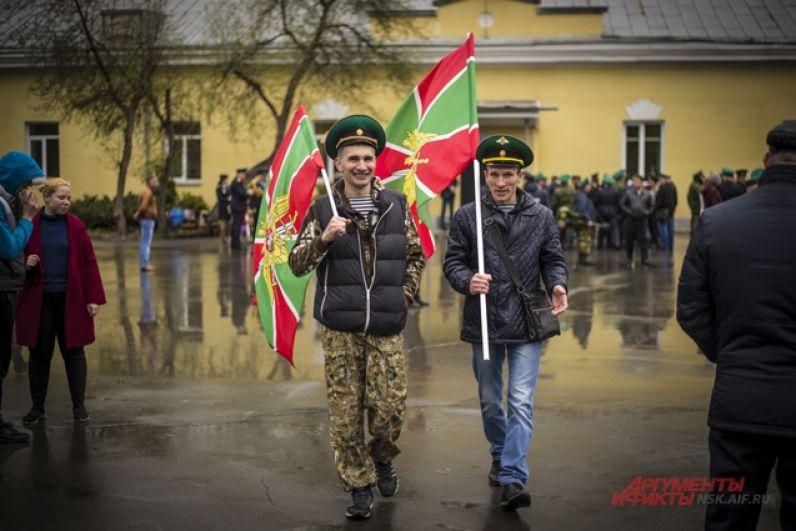 День пограничника в Новосибирске.