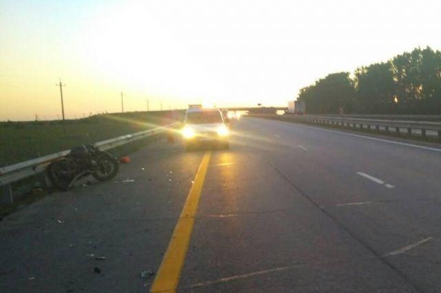 НаМ-4 вТульской области умер 17-летний мотоциклист