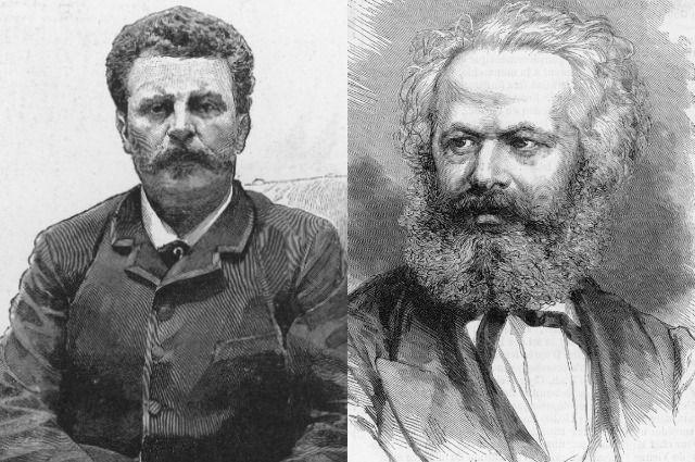 Ги де Мопассан и Карл Маркс.