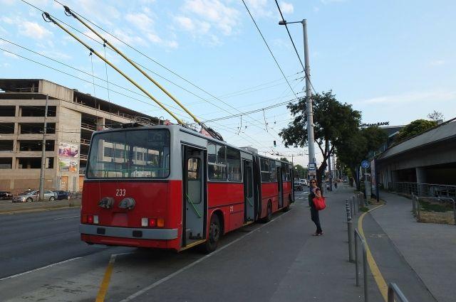 В Омске дети раскрасят троллейбусы.
