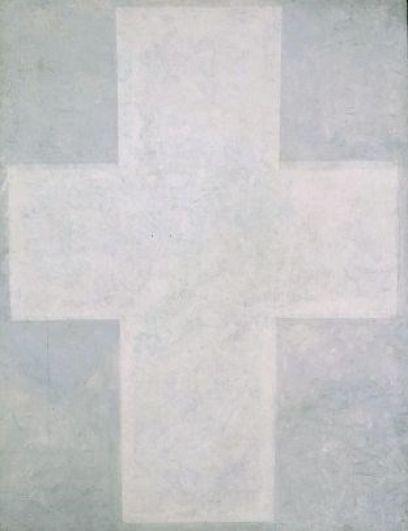 Казимир Малевич «Белый крест» (1920-1927). В январе 1997 года российский художник Александр Бренер нарисовал на оригинале картины зеленый знак доллара. Краска была легкосмываемой, «Белый крест» восстановили, а вот Бренера арестовали, и до суда он сидел в тюрьме. На суде художник рассказал, что действовал ради расширения границ искусства, но суд учел аналогичный случай (ранее Бренер уничтожил экспонат в музее Стокгольма) и приговорил его к пяти месяцам заключения и 10 тысячам долларов штрафа (который тот так и не выплатил).