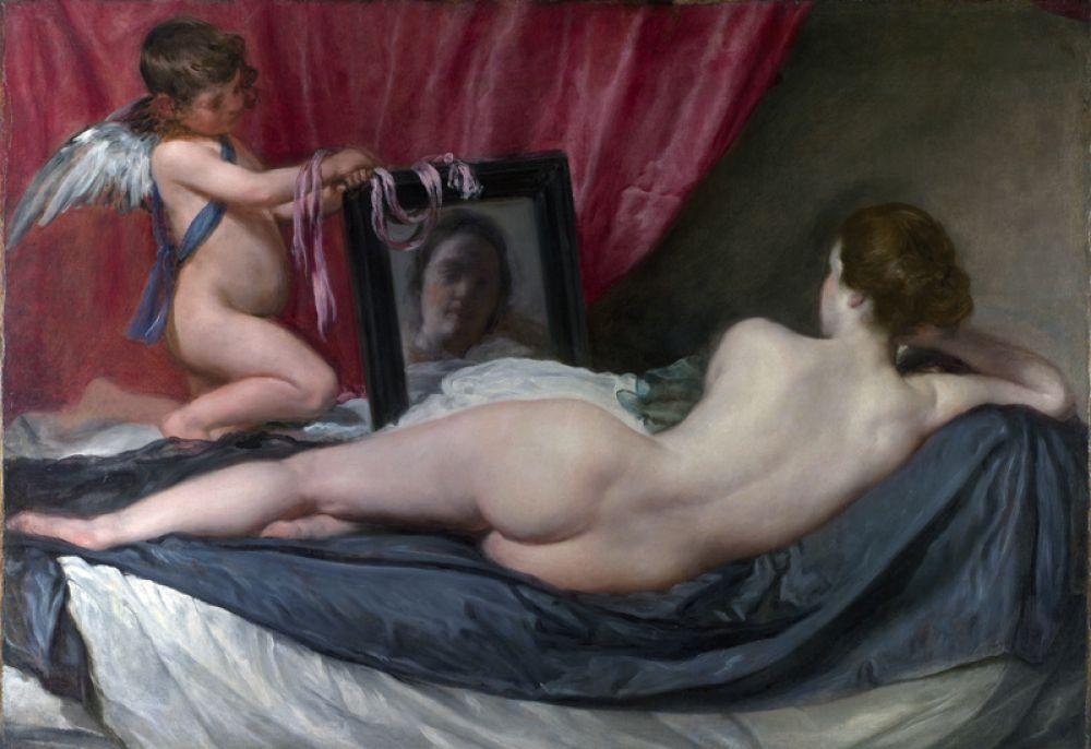 Диего Веласкес «Венера с зеркалом» (1647–1651). Нападение на «Венеру с зеркалом» стало политическим актом. Суфражистка Мэри Ричардсон в 1914 году хотела отомстить за арест своей сподвижницы и порезала картину. Она отсидела шесть месяцев, а «Венеру» удалось отреставрировать.