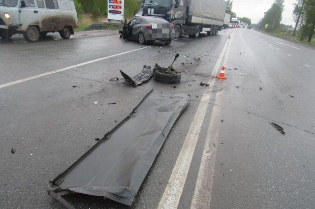Авария произошла 29 мая на трассе около Краснокамска.