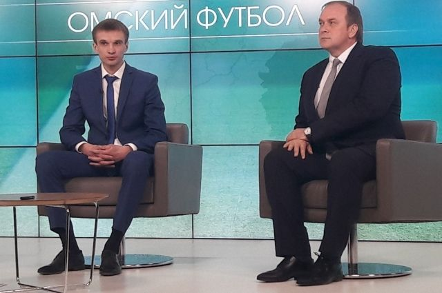 Директор департамента Фадин и президент клуба Новиков.