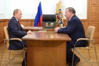 Владимир Путин и Александр Карлин в 2014 году.