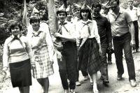 Вынос знамени. Подмосковье, 1986 г.