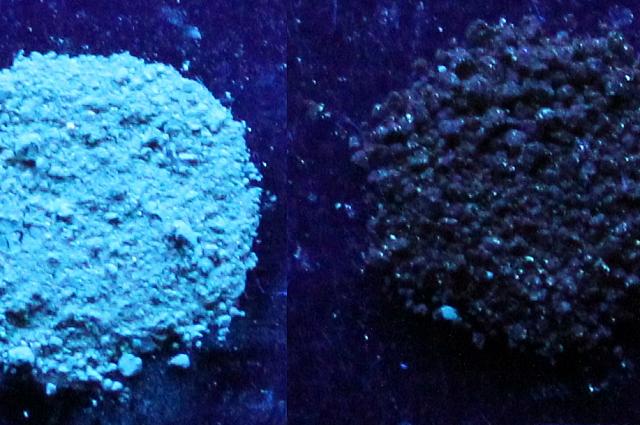 Фотолюминесценция геля, пропитанного толуолом, и фотолюминесценция исходного геля.