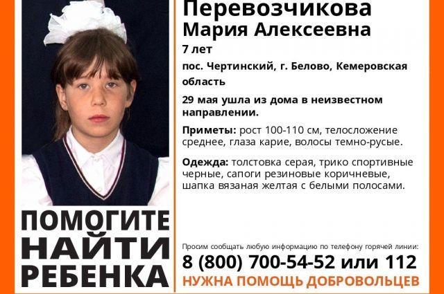 В Кемеровской области продолжаются поиски пропавшей 7-летней девочки.