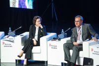 Губернатор Югры Наталья Комарова и секретарь Общественной палаты РФ Валерий Фадеев