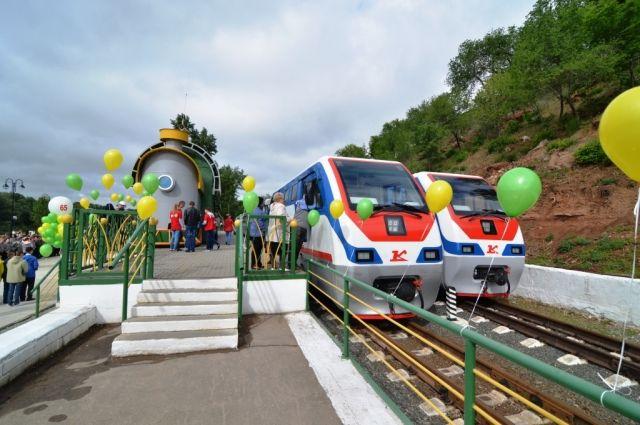 Оренбургской детской железной дороге исполнилось 65 лет.