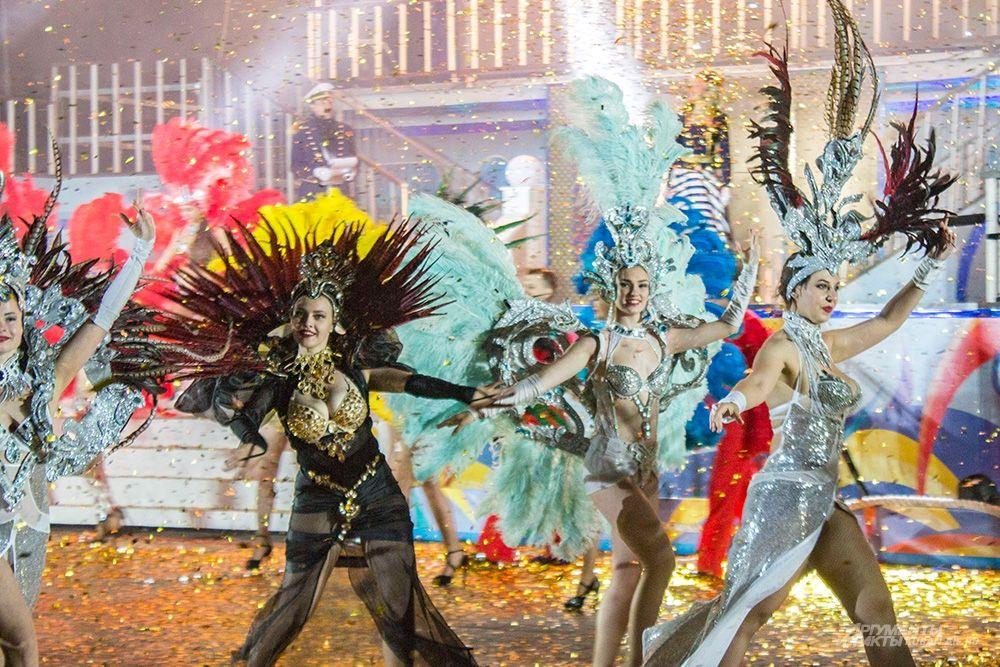 Традиционное карнавальное шествие в Геленджике.