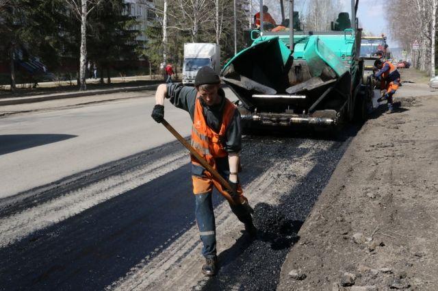 В Кемерове продолжаются ремонтные работы на городских автомагистралях.