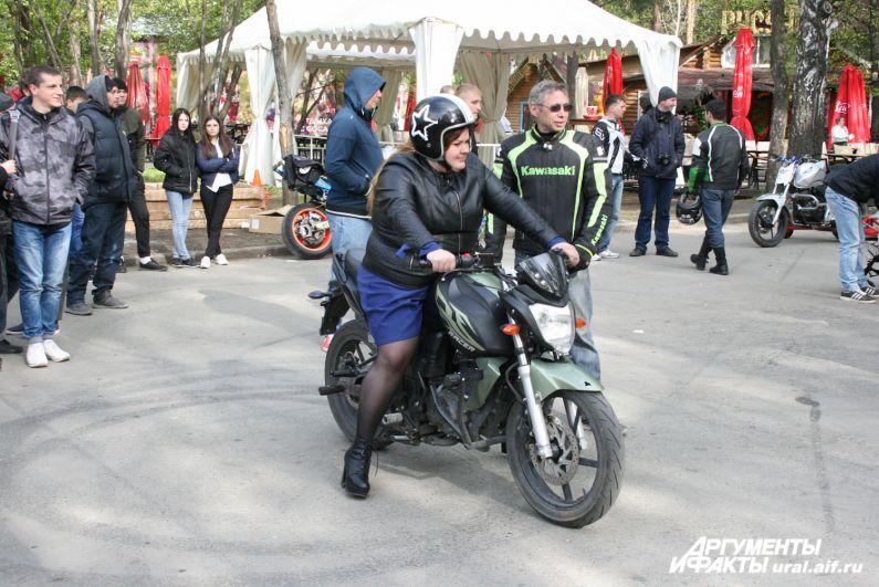 Все желающие могли прокатиться на мотоцикле.