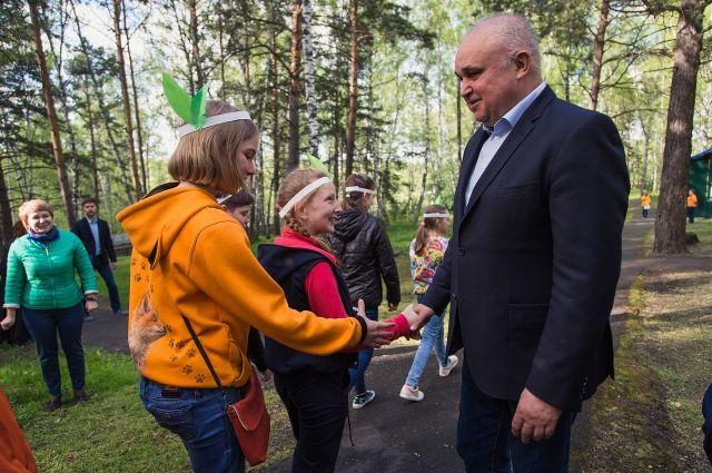 Сергей Цивилев посетил детский Центр активного отдыха «Космос».