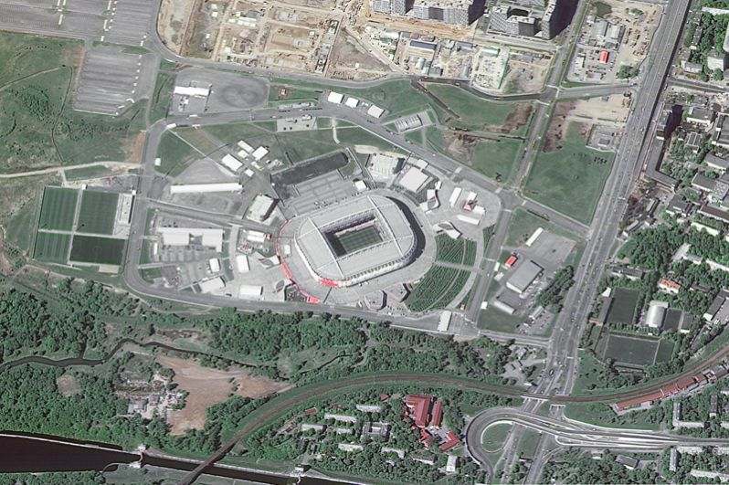 Стадион «Спартак» в Москве.
