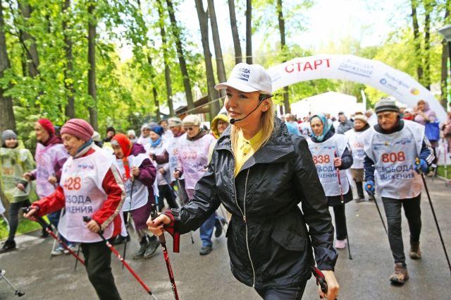 Лариса Вербицкая на старте фестиваля.