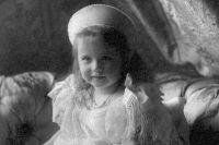 Великая княжна Анастасия в возрасте трёх лет.
