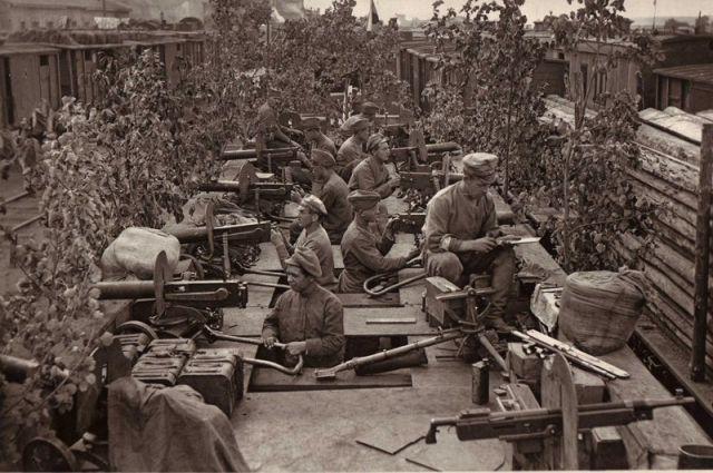 Бронепоезд Орлик, Уфа, чехи, 1918 год.