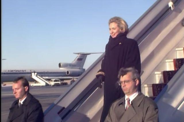 Хиллари Клинтон прилетала в Новосибирск в 1997 году.