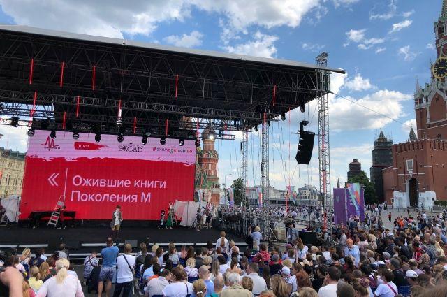 Награждение победителей проходило на Красной Площади в Москве.