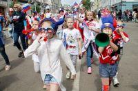 Праздничное шествие посвятили спорту, здоровому образу жизни и Чемпионату мира по футболу.