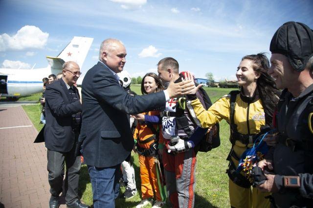 Врио губернатора Кемеровской области посетил аэродром Танай.