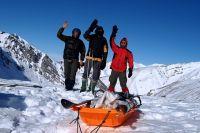 Команда первопроходцев состояла из троих человек.