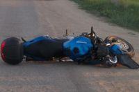 Мотоцикл попал в ДТП.