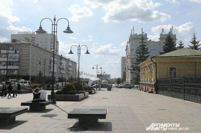 Центр Омска на выходных станет пешеходным.