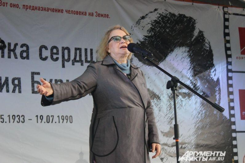 Из Москвы специально на открытие памятника приехала знаменитая актриса Валентина Талызина