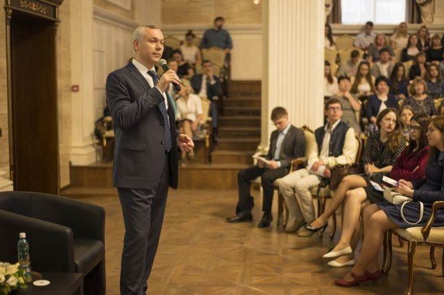 Андрей Травников встретился с иницииативной молодежью.